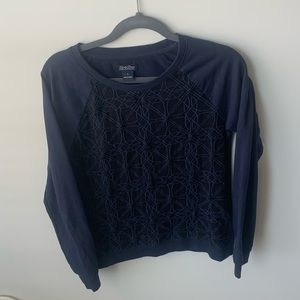 Lucky Brand size Small Black and Blue LS top